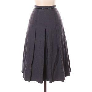Elie Tahari Gray Wool Skirt